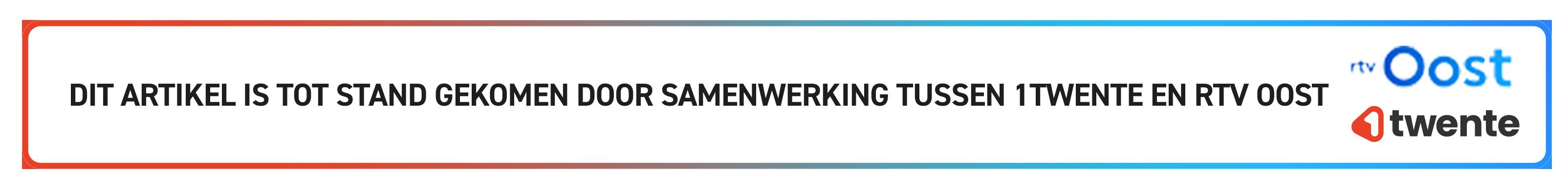 Banner samenwerking 1Twente en RTV Oost