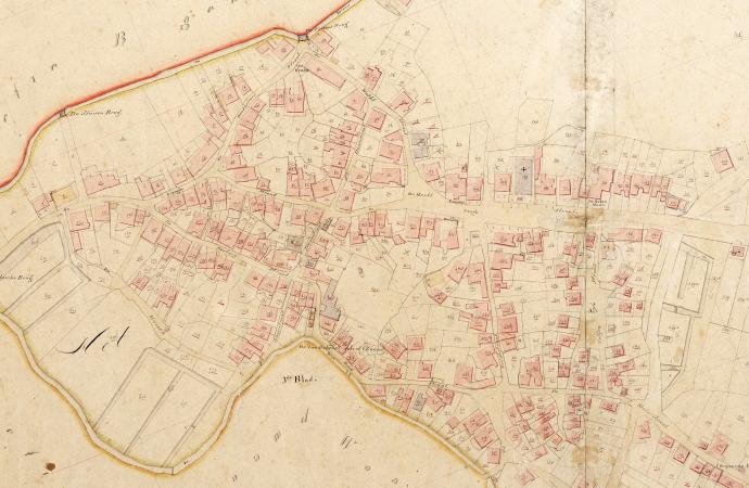 Het dorp hengelo uitsnede kaart