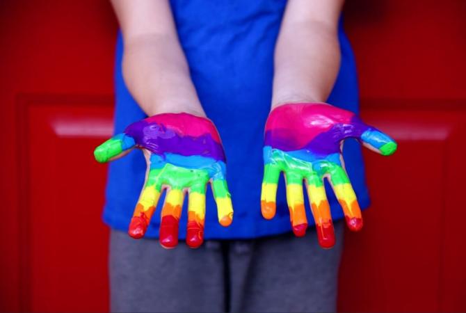 Handjes regenboog