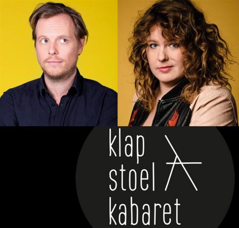 462957 Klapstoel Kabaret Patrick Nederkoorn en Kiki Schippers