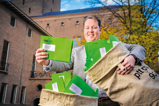 Jeroen Diepemaat groene enveloppe