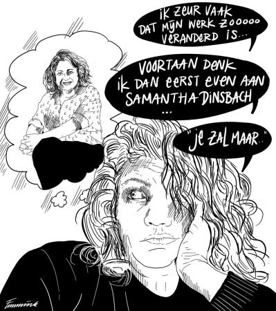 Cartoon Samantha Dinsbach