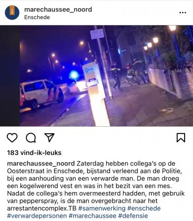 Instagram marechaussee verwarde man