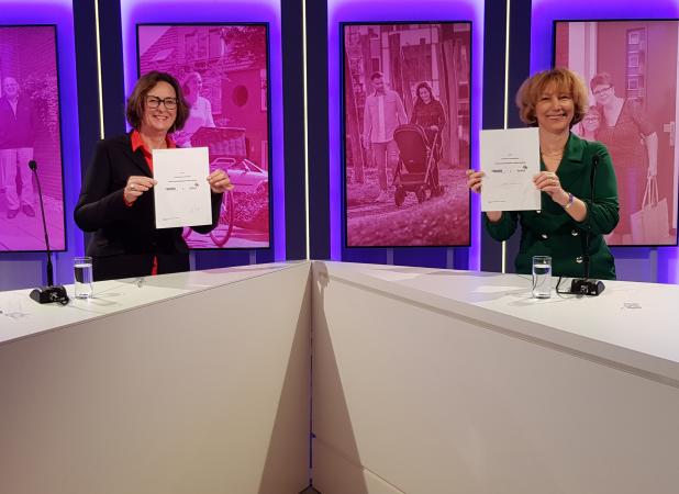 Ondertekening samenwerkingscontract De Woonplaats Domijn