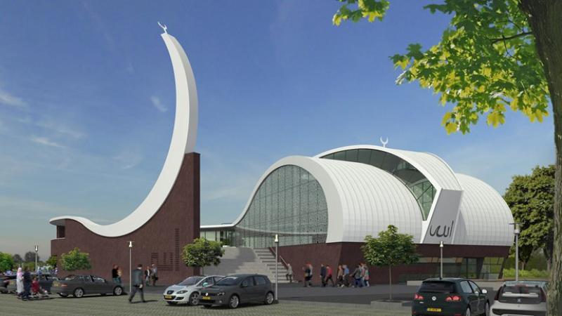 Ontwerp van de nieuwe moskee in Enschede Foto Gemeente Enschede