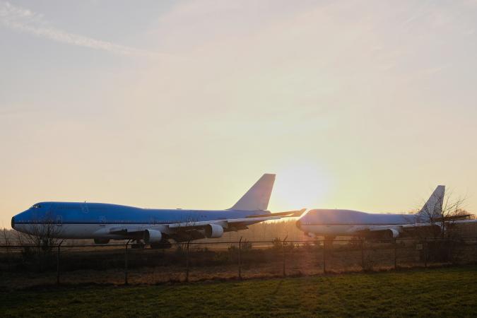 Boeings op Airport Twente Ernst Bergboer