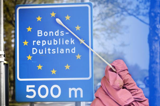 Duits Nederlandse grens (met teststaafje)