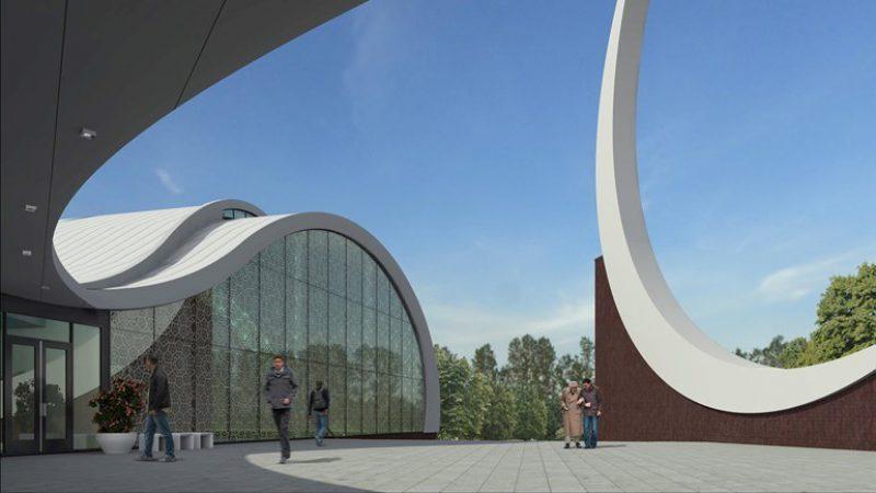 Exterieur van de nieuwe moskee in Enschede Foto Gemeente Enschede