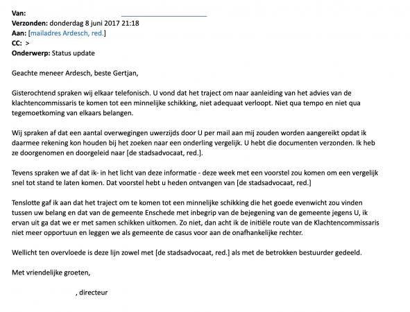 Mail zaak Ardesch