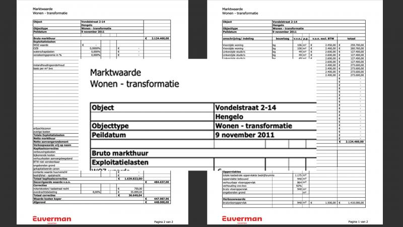 Waardebepaling 2011 bieb vondelstraat euverman 2