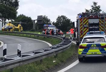 Dodelijk ongeval tussen Gronau en Ochtrup Foto Bundespolizei Deutschland